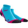 cep Low Cut - Chaussettes course à pied Femme - rose/bleu
